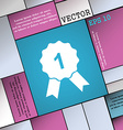 award medal icon sign Modern flat style for your vector image vector image