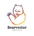 bear sport logo concept isolated on white vector image vector image
