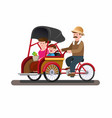 becak or trickshaw indonesian traditional vector image vector image