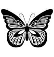 butterfly black white silhouette design vector image
