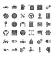 car service solid web icons vector image