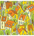 City seamless pattern with roofs vector image vector image