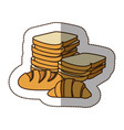 color various types of bread icon vector image vector image