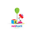 colorful toys kids logo vector image vector image