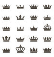 crown icons queen king crowns luxury royal vector image vector image