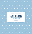 cute blue background with white polka circle dots vector image vector image