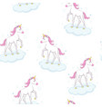 cute unicorn pattern vector image vector image