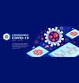 digital medicine coronavirus background vector image vector image