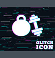 dumbbells sign icon fitness sport symbol vector image vector image