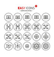 easy icons 46b computer crime vector image