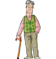 Elderly man vector image