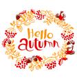 Fall season floral wreath vector image vector image