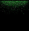 falling green sequins vector image