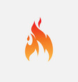fire icon design flame icon vector image