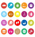 Fitness sport flat icons on white background vector image
