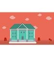 flat of big house on orange backgrounds vector image vector image