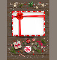 frame on wood background vector image vector image