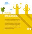 fun monsters the background for text for desi vector image