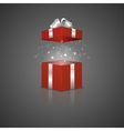 Gift box with a magic effect vector image vector image