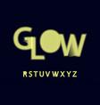 glow halftone font alphabet r s t u v w x y z vector image