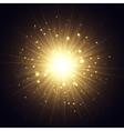 Golden explosion vector image vector image
