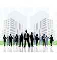 group of businesspeople vector image