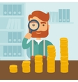 Growing business in financial aspects vector image vector image