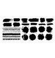 grunge hand drawn paint dubs elements vector image