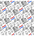 hand drawn seamless pattern with holland city vector image vector image