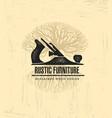 Hand plane custom rustic furniture wood works vector image