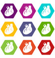 heart organ icons set 9 vector image vector image