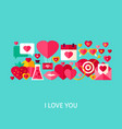 i love you greeting concept vector image vector image