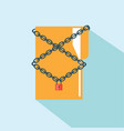 icon folder locked with a key and chain vector image