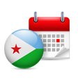 Icon of National Day in Djibouti vector image vector image