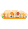 kids playground with playing equipment vector image