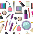 large set of various cosmetic accessories nail vector image