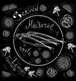 lettering fish menu fresh fish mackerel seafood vector image vector image
