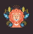 lion head stylized vector image vector image
