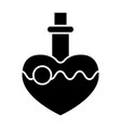 magic potion solid icon love potion vector image vector image