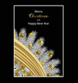 merry christmas and happy hew year greeting card vector image vector image