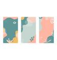 minimal cover design with hand drawn organic vector image vector image