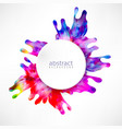 modern abstract background splash color vector image vector image