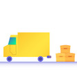 modern flat design truck boxes vector image