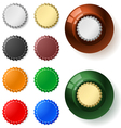 Multicolored bottle cap vector image