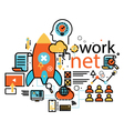 Network line design web banners for cloud computin vector image