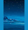night mountain landscape background vector image