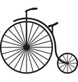 old simple bicycle vector image vector image