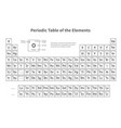 periodic table of elements template for vector image vector image