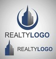 realty logo 7 vector image vector image