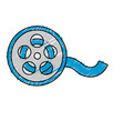 reel scene to projection the movie in the theater vector image vector image